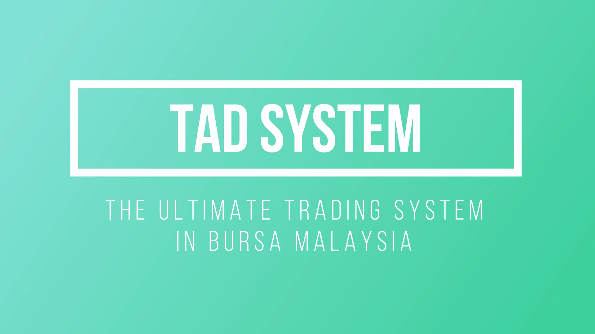 the ultimate trading template tad system